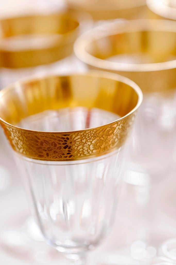 Gold Wedding Glasses