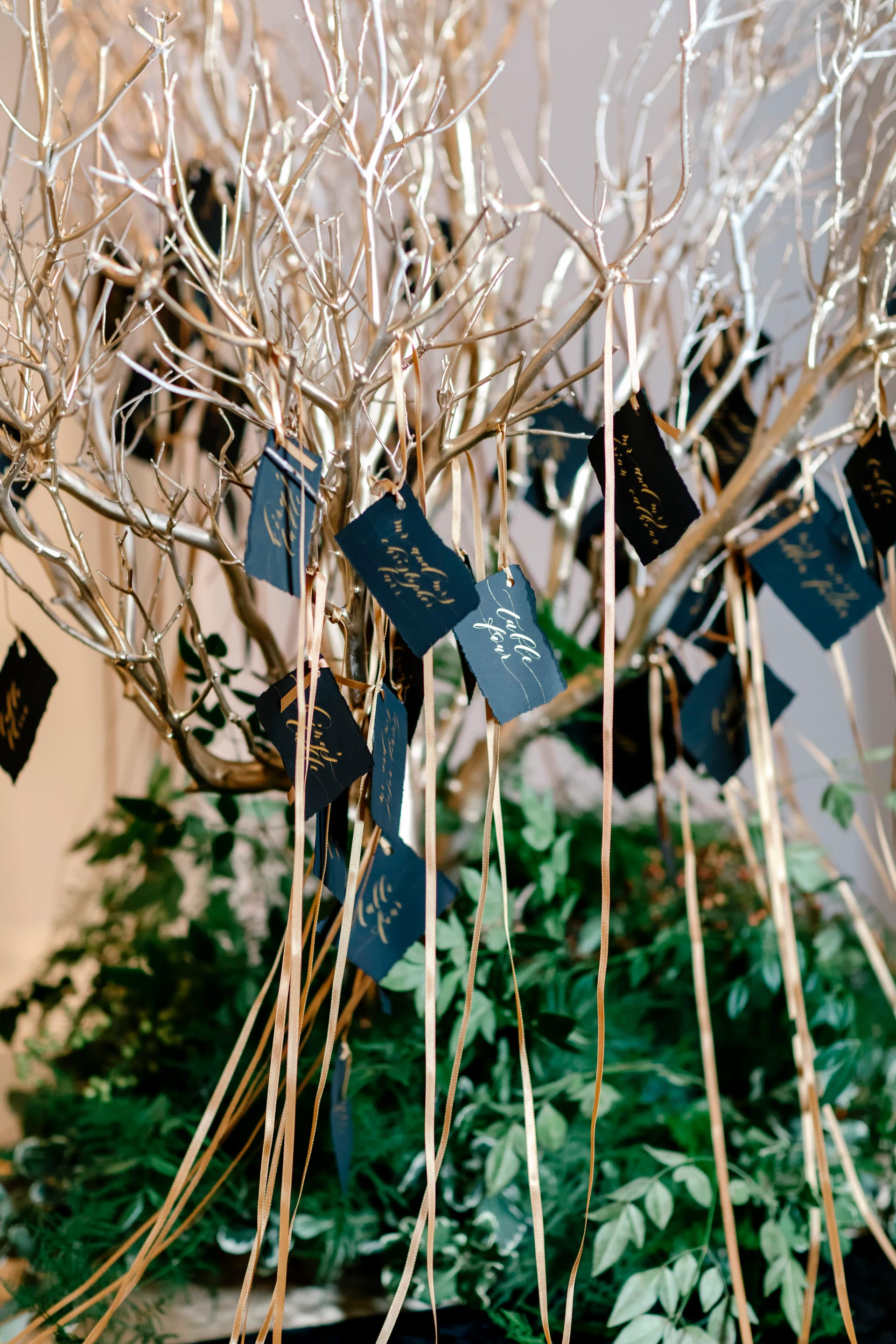 Gold Place Card Tree