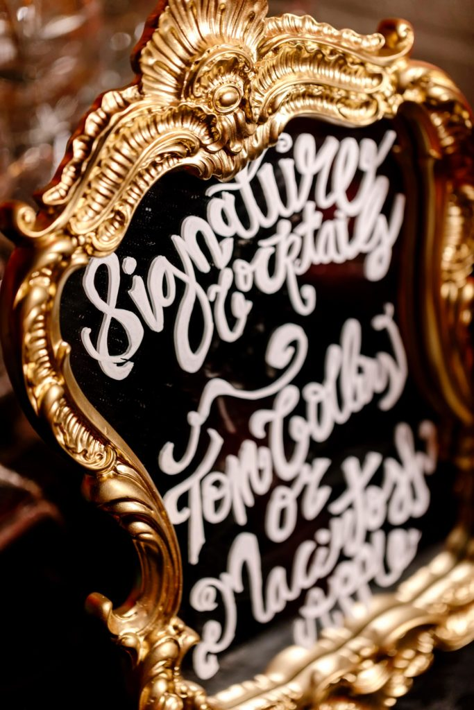 Gold Signature Drink Sign