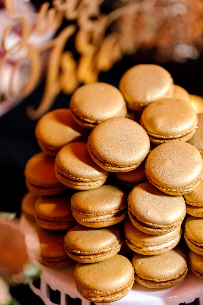 Gold Wedding Macaron Cookies