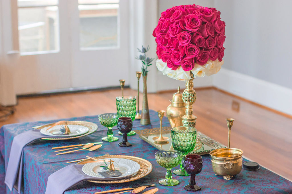 Jewel Toned Table Decor Inspiration