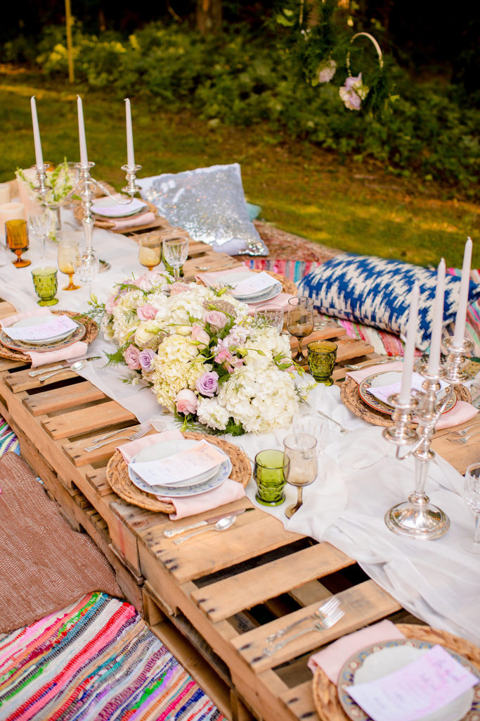 Bohemian Summer Dinner Party Decor