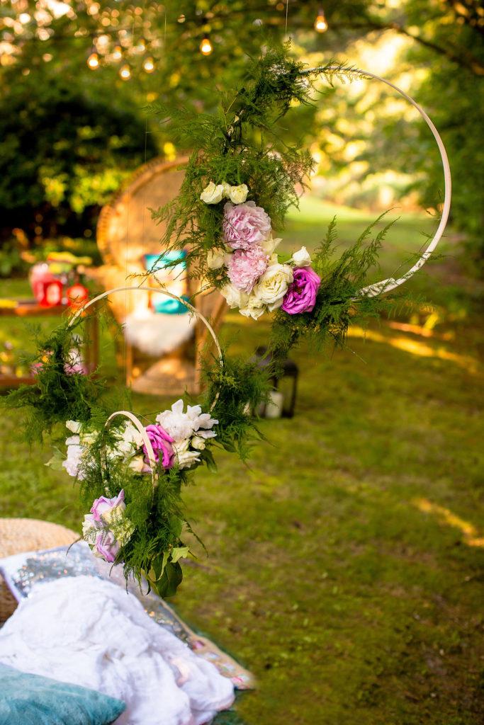 Bohemian Floral Hoops