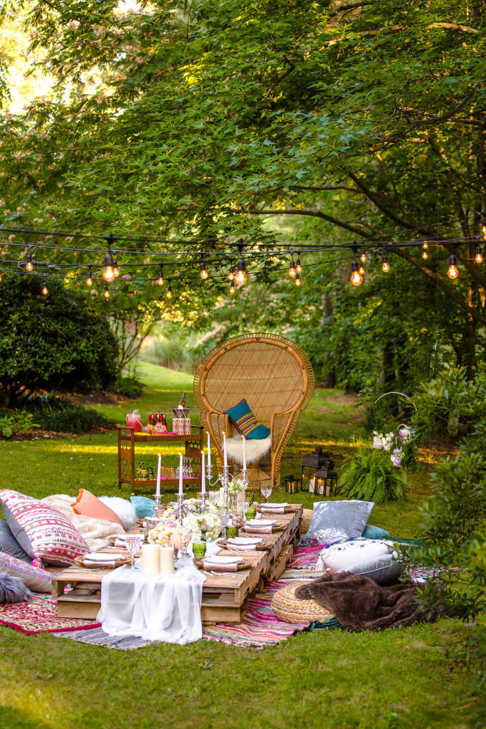 Bohemian Style Summer Dinner Party
