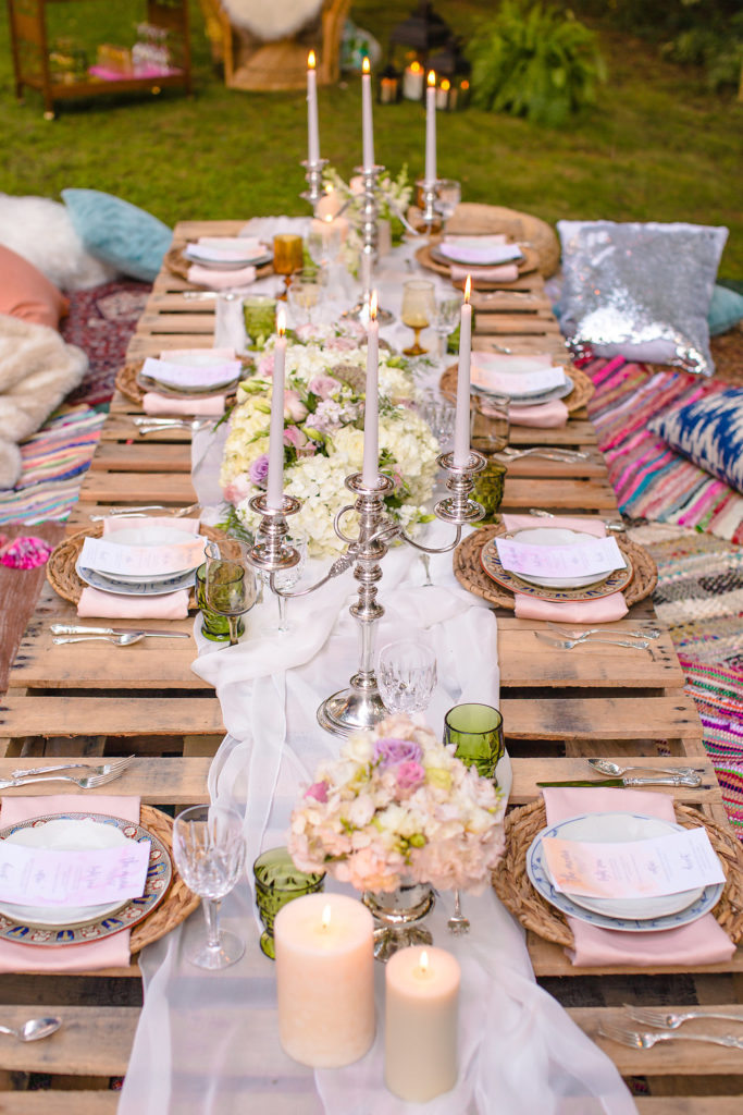Boho glam dinner party Inspriation