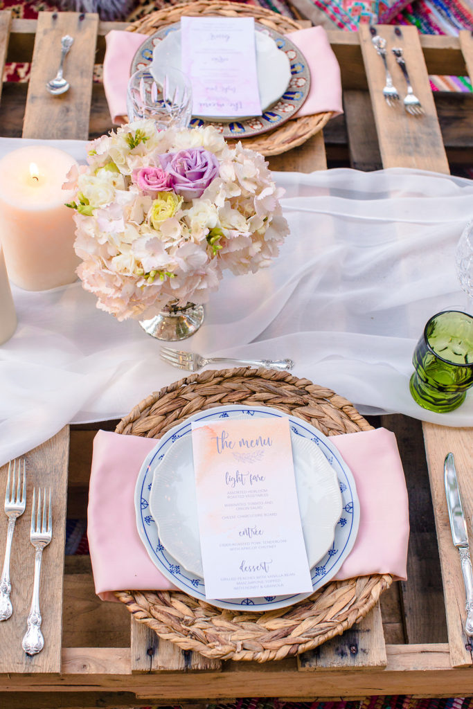 Boho Glam Table Decor