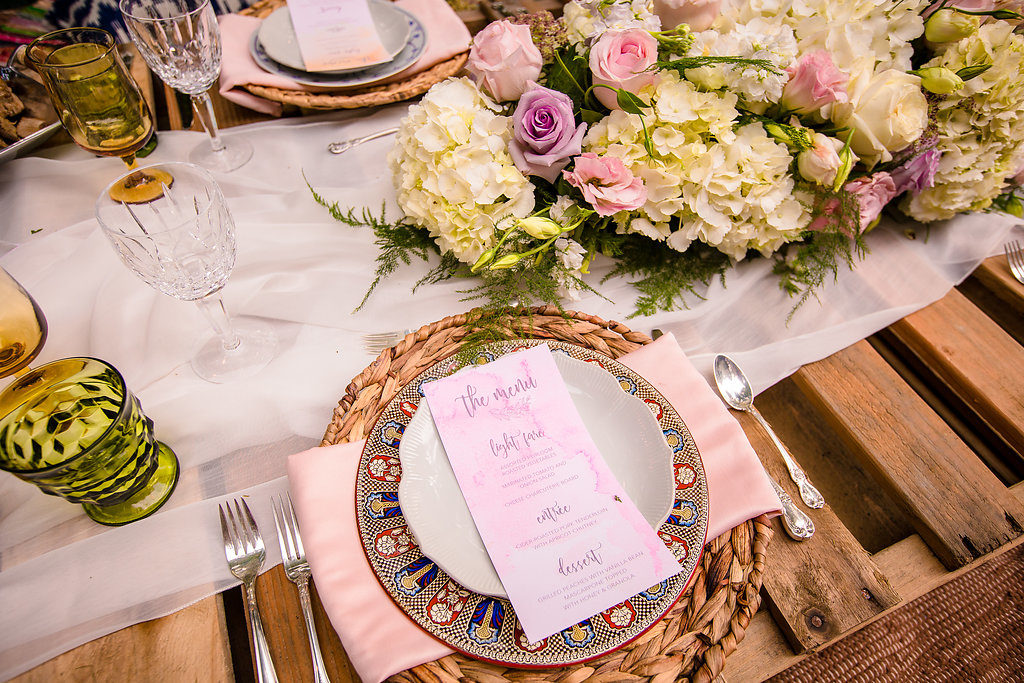 Bohemian Dinner Party Place Setting