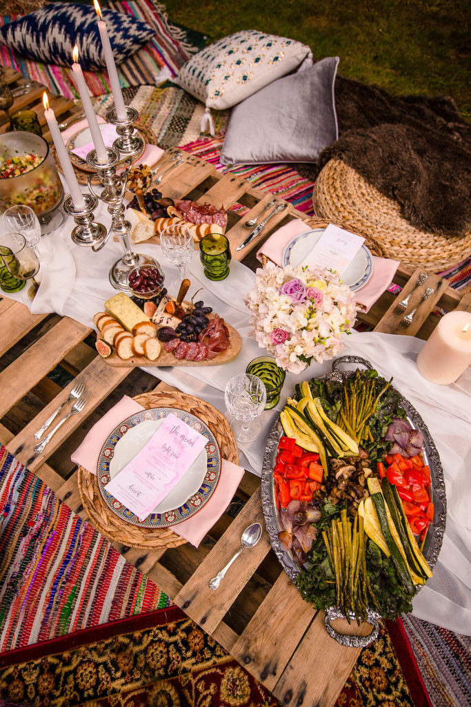 Boho Dinner Party Table Decor