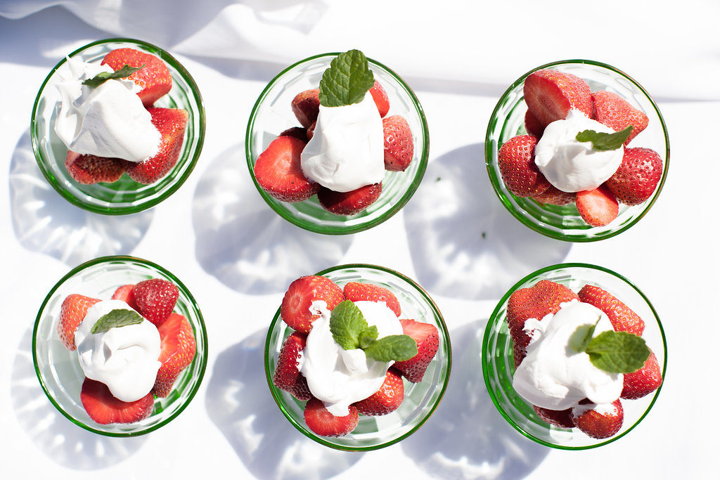 Wimbledon strawberries and cream