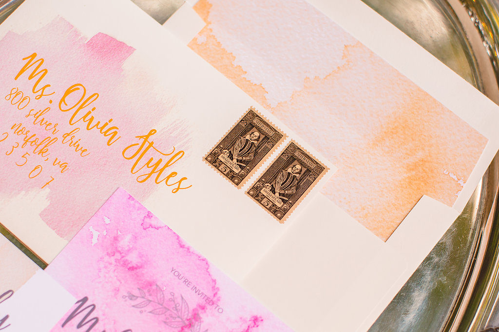 Pink Watercolor Invitation Design