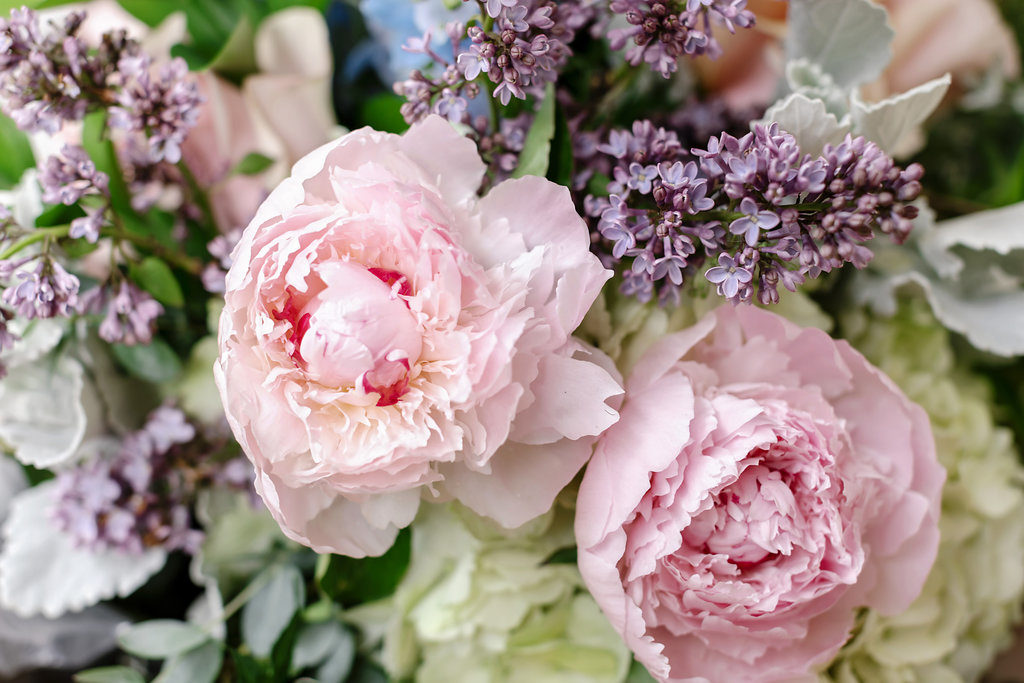 Pink Peony Wedding Flowers
