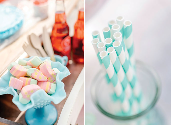 Mod Inspired Ice Cream Bridal Shower