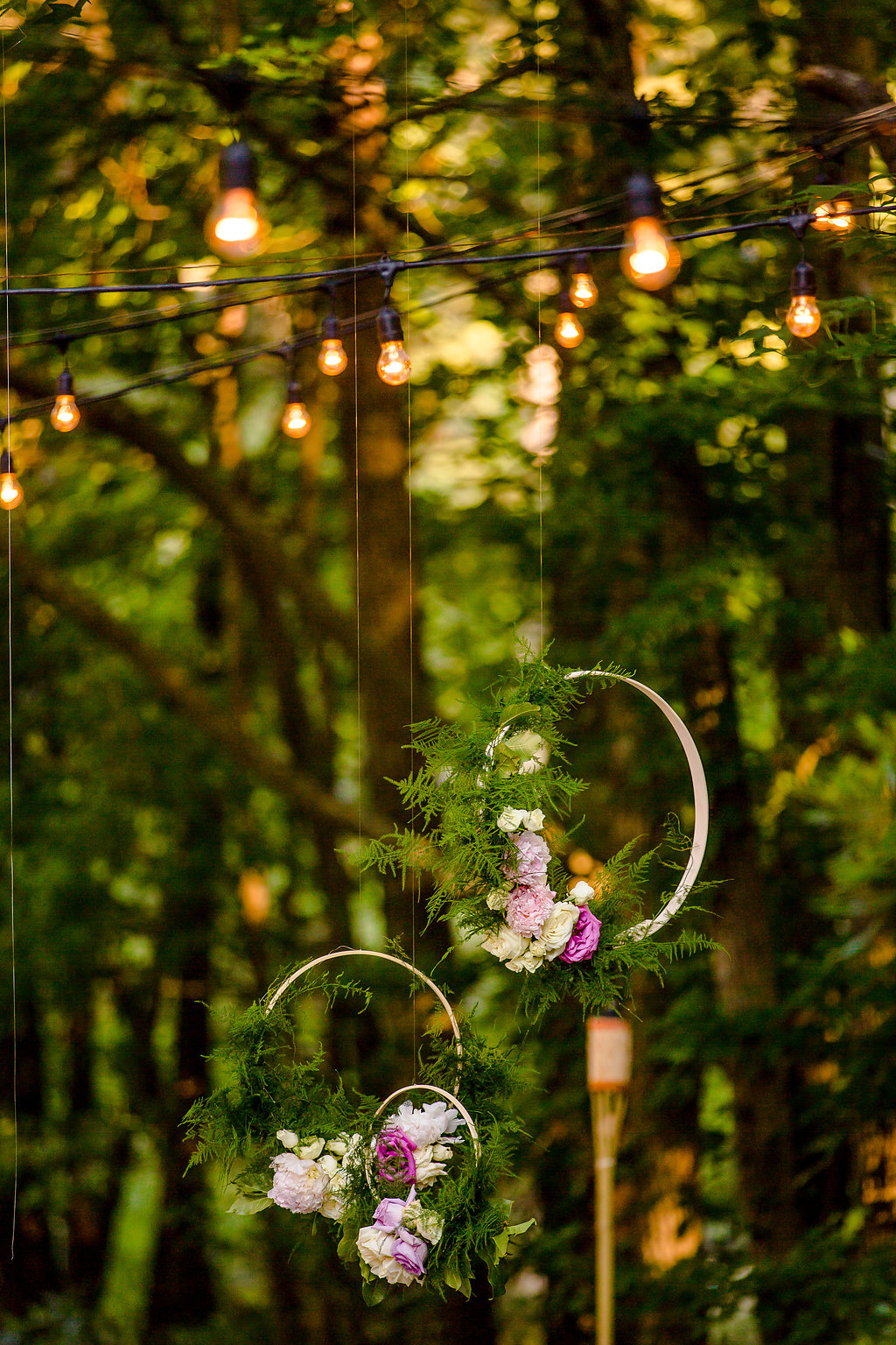 DIY Flower Hoops