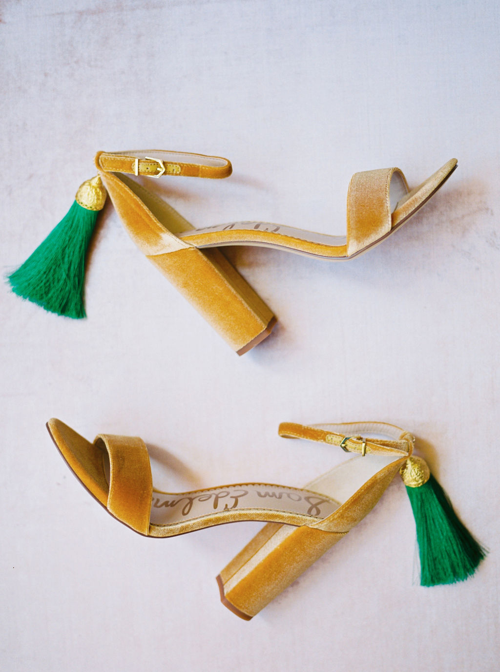 Velvet Wedding Shoes with Tassels