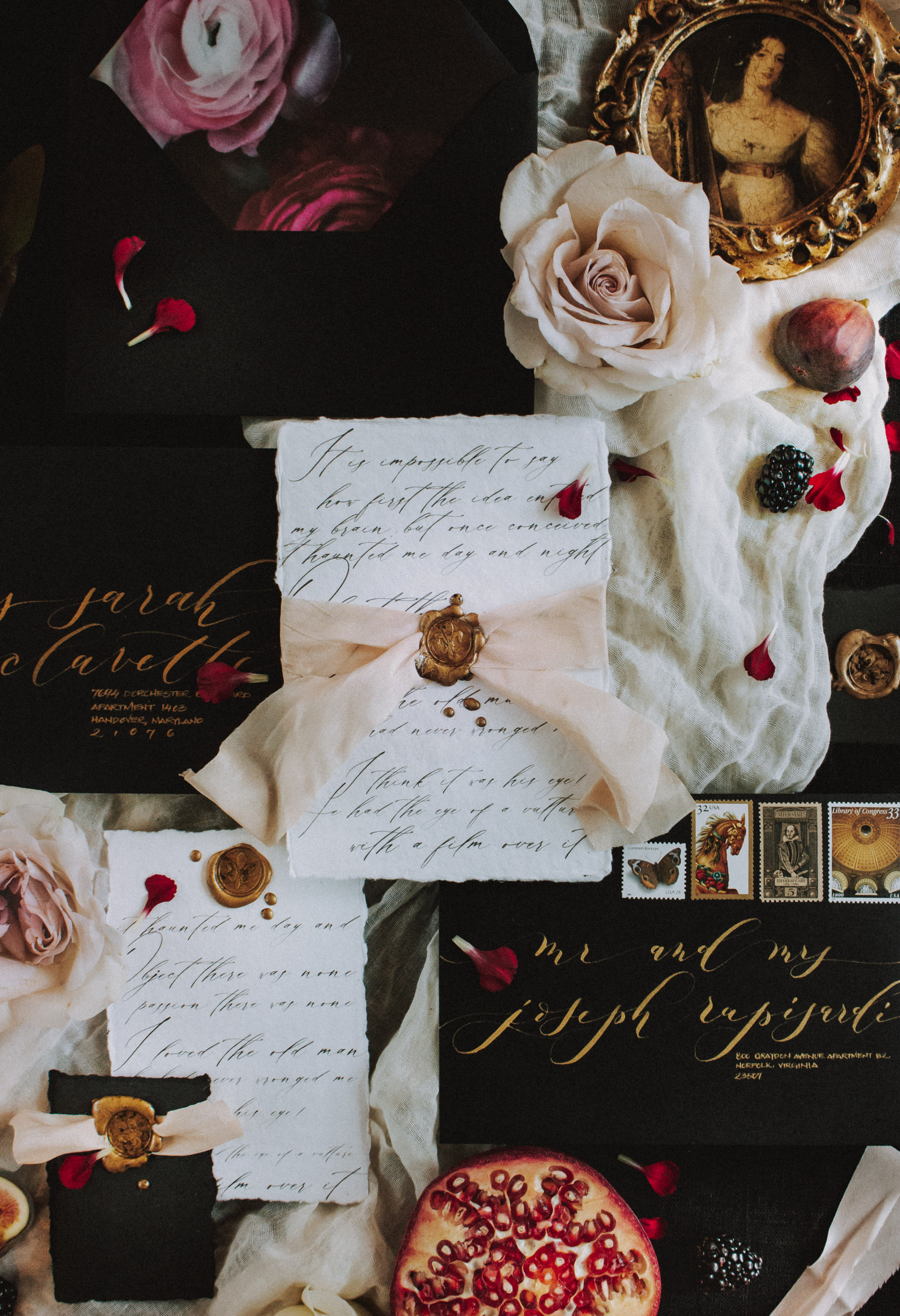 Dark Wedding Invitations