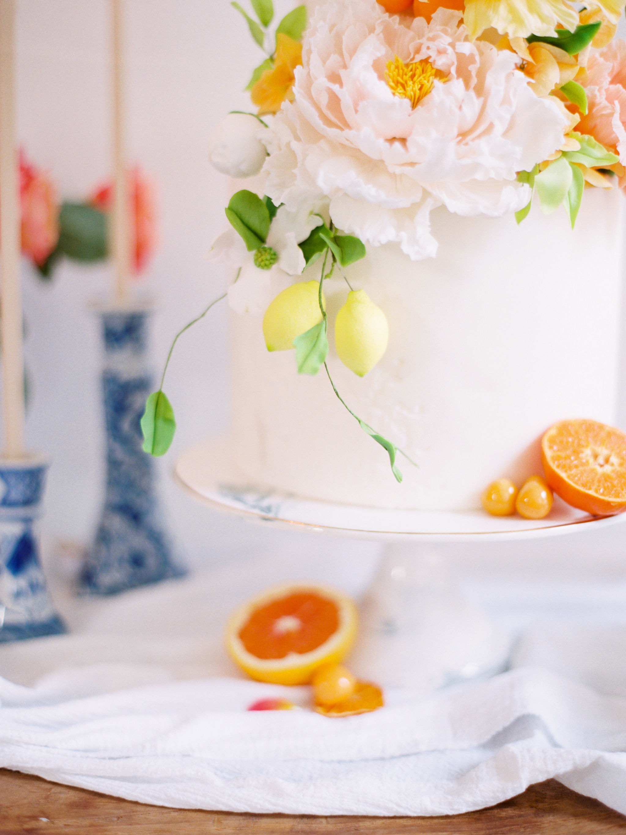 Lemon Citrus Wedding Cake