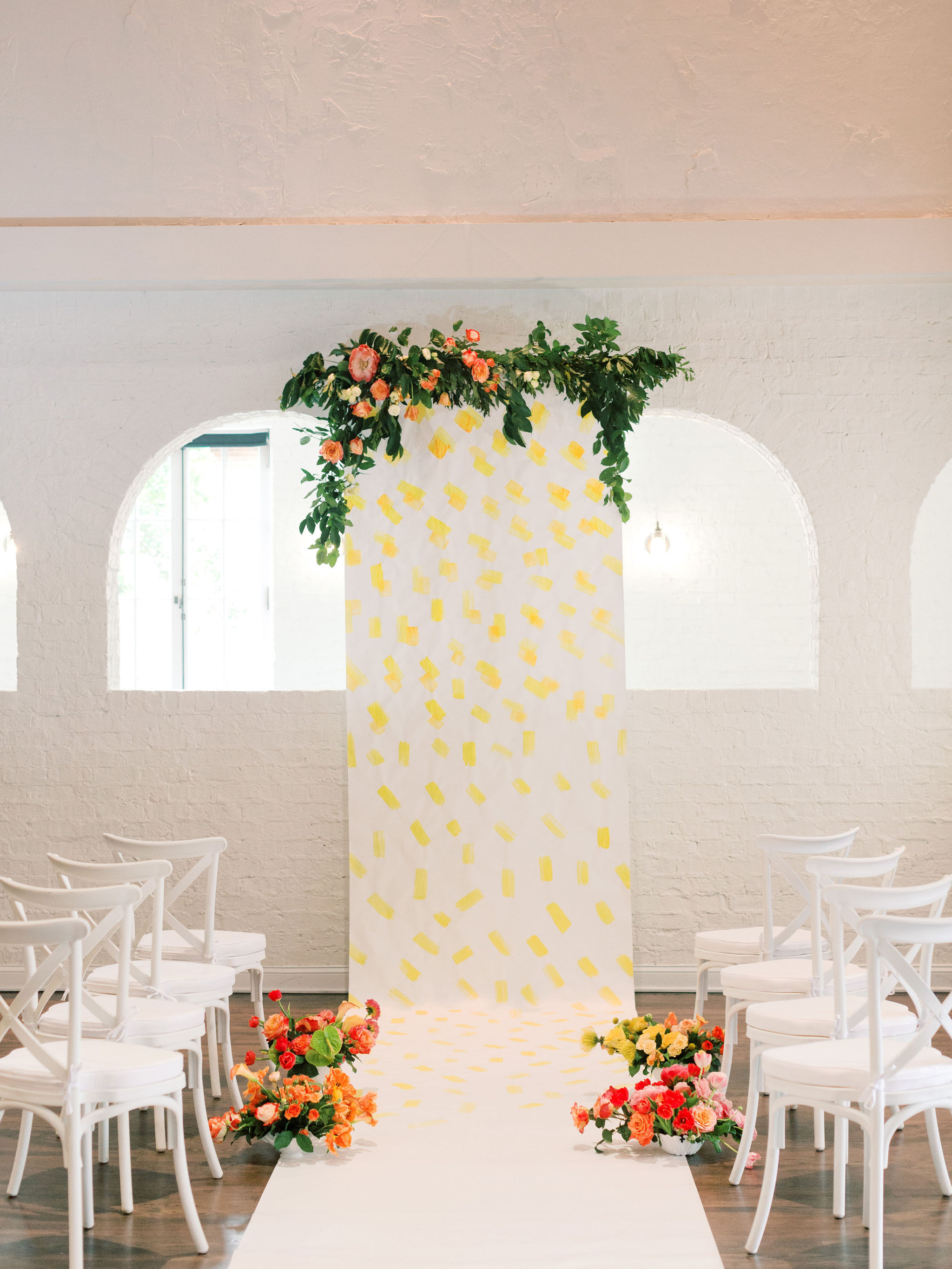 Painted Floral Ceremony Backdrop