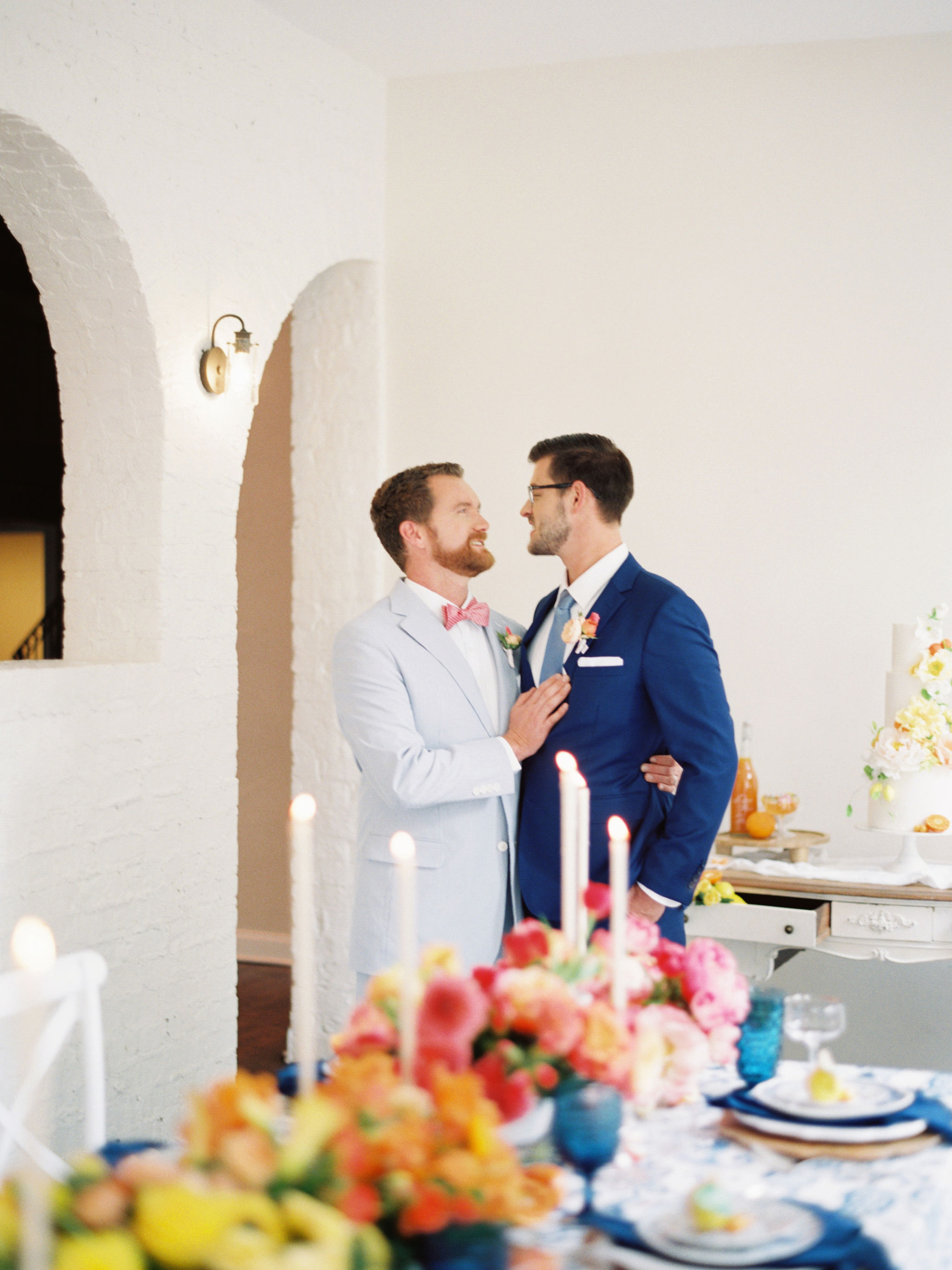 Same Sex Wedding With Citrus Decor