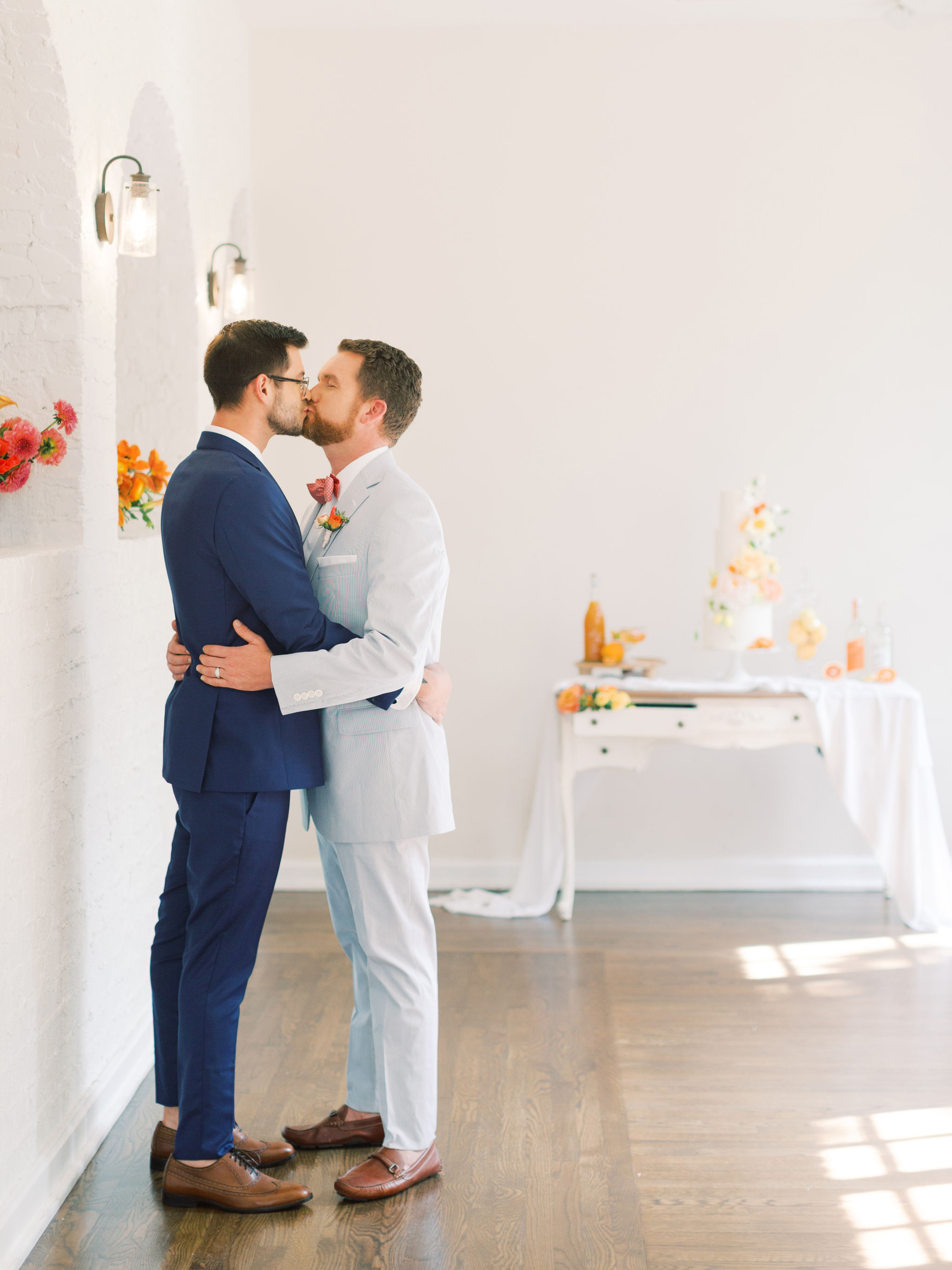 Citrus Wedding Decor for Gay Couple
