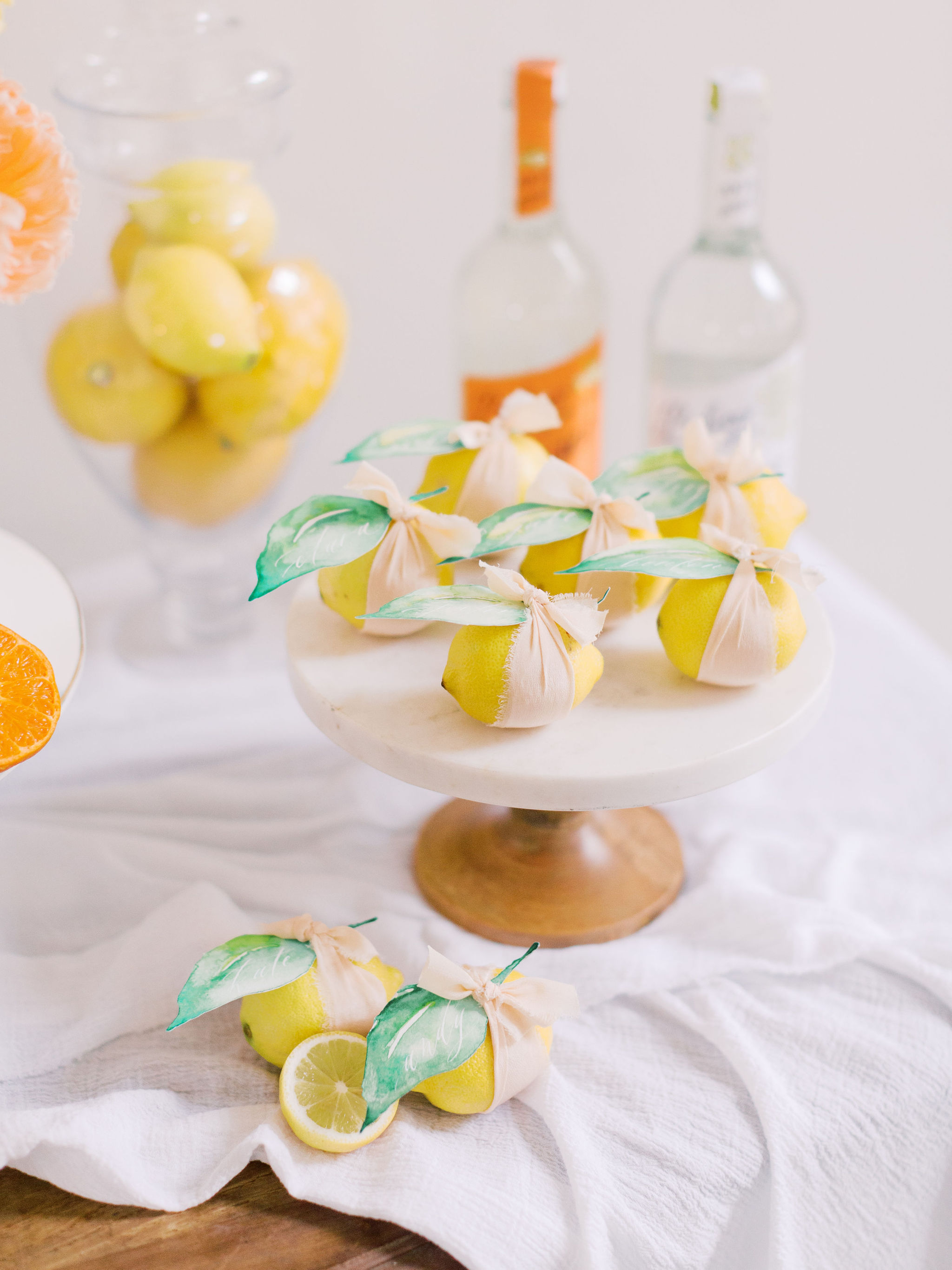 Citrus Wedding Place Cards