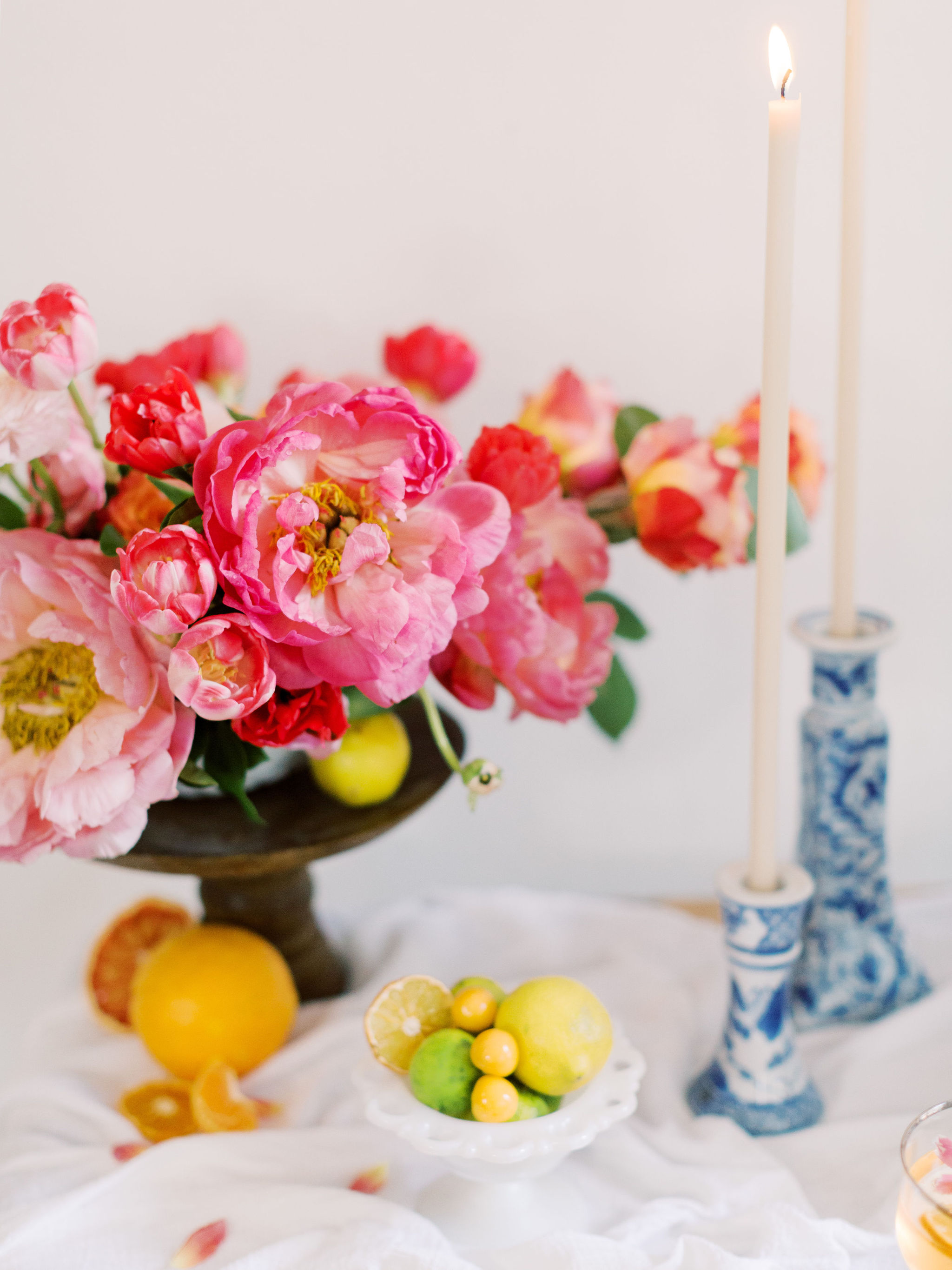 Citrus Wedding Table Decor