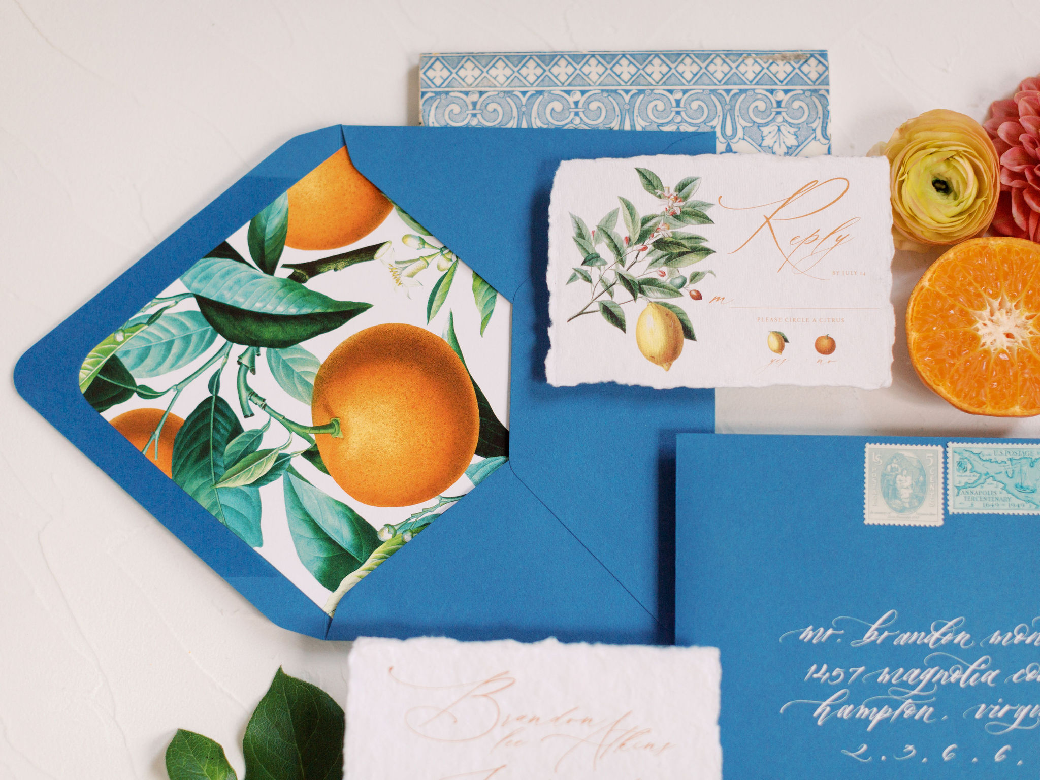 Citrus Envelope Liner