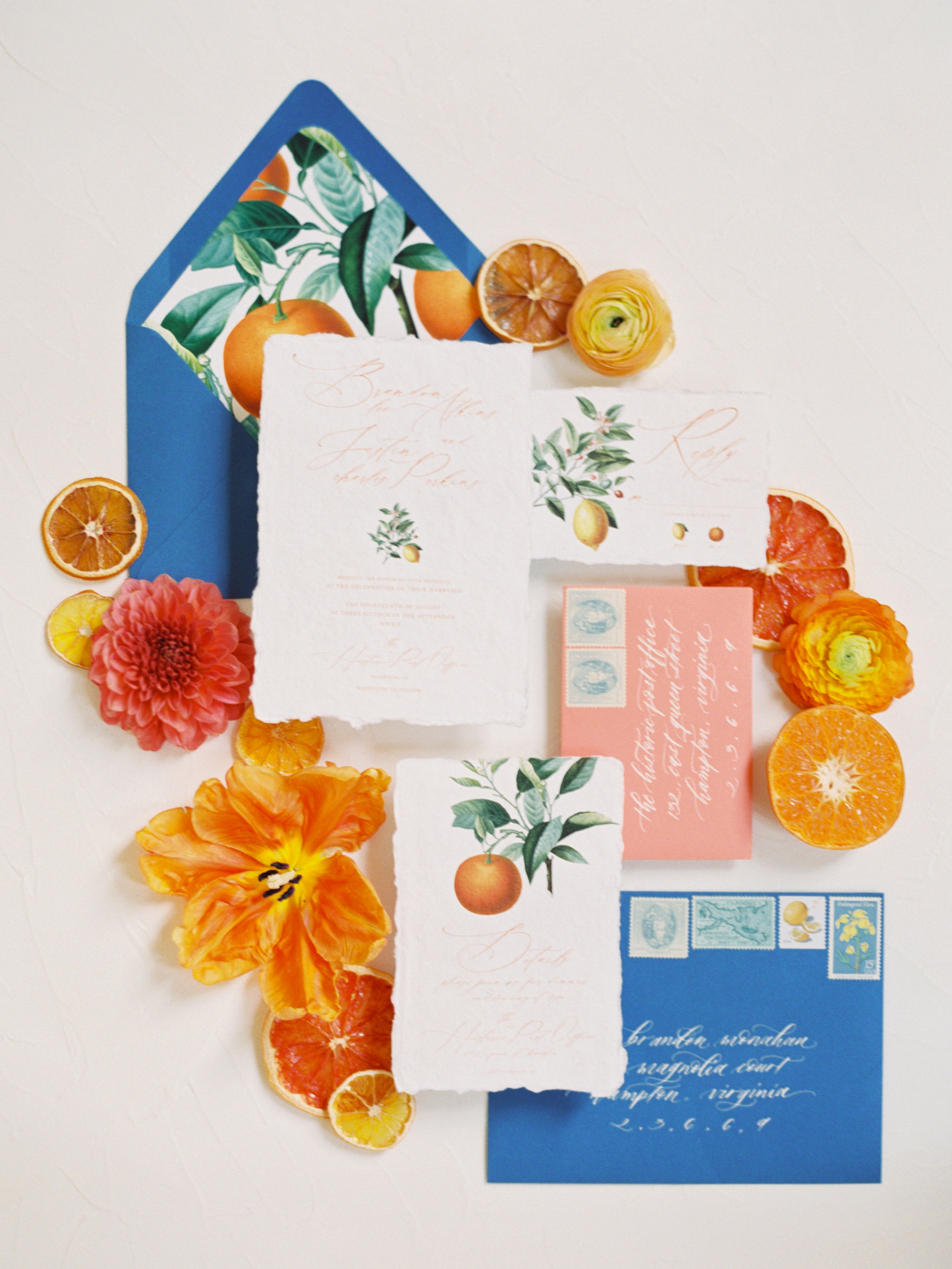 Citrus Wedding Stationery Suite