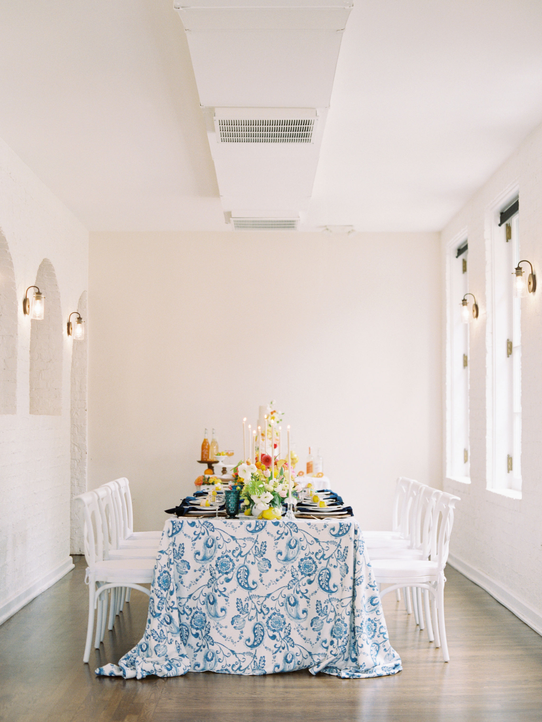 White and Blue Ombre Citrus Wedding