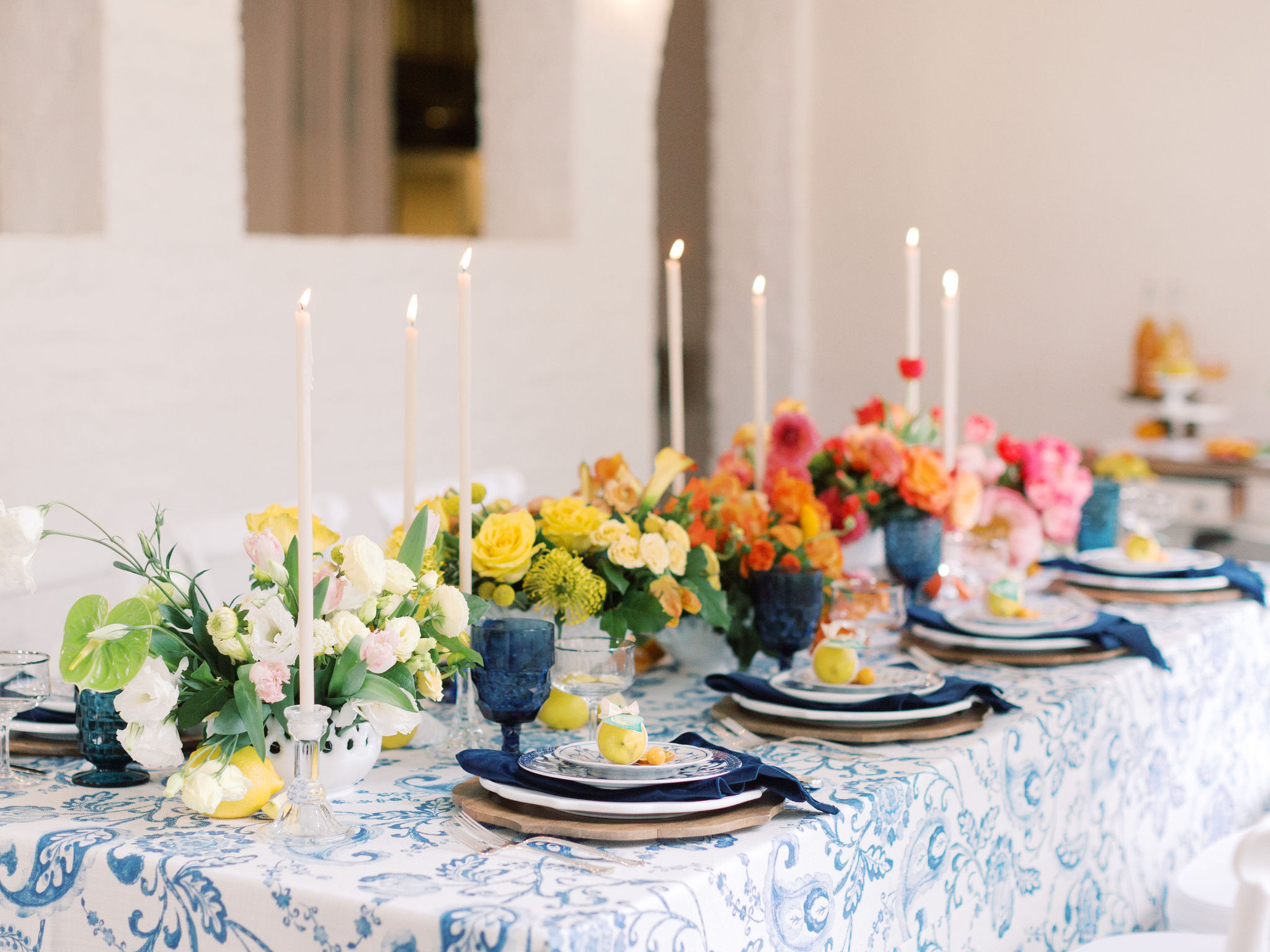 Wedding with Citrus Ombre Florals