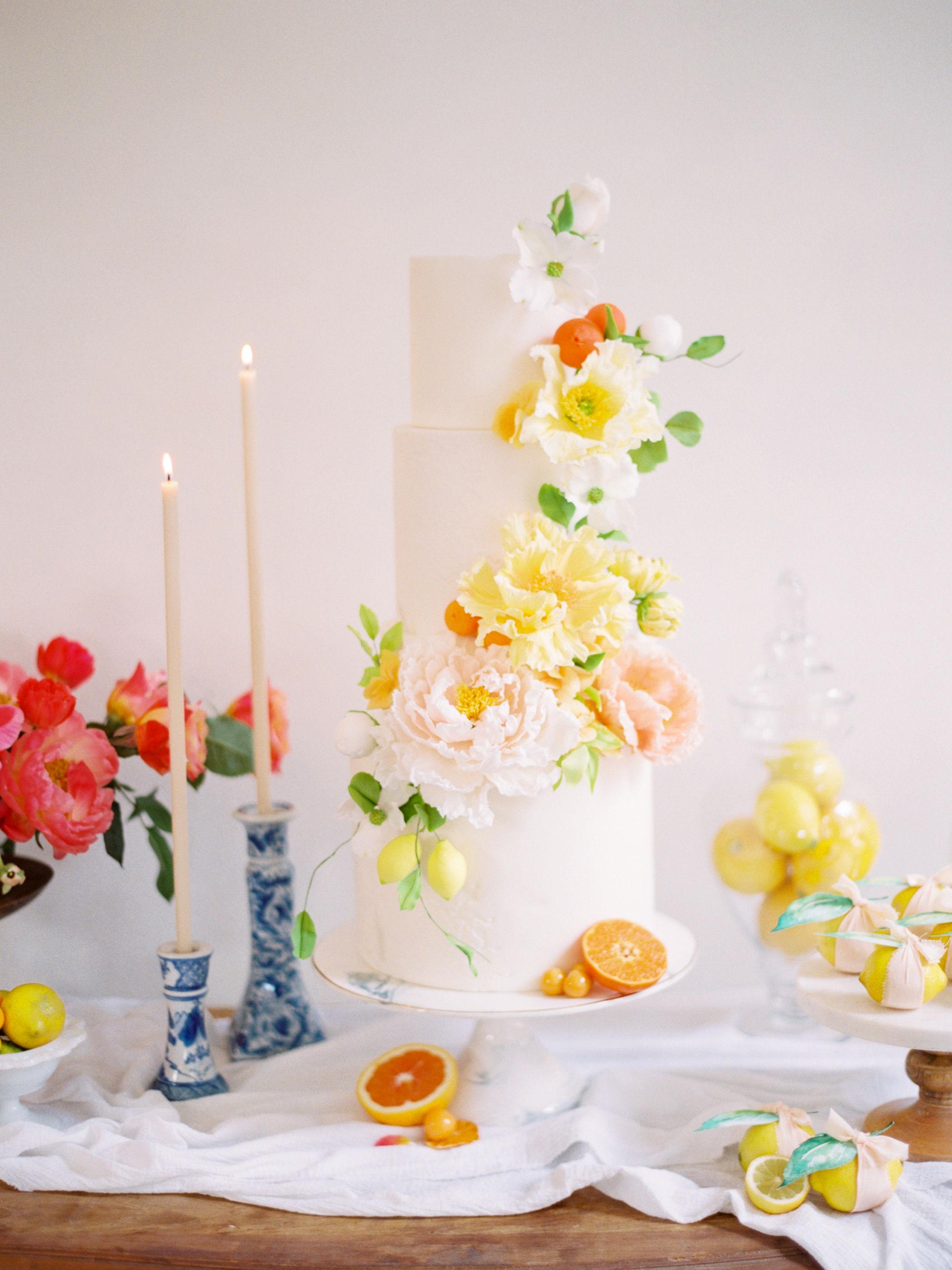 Sugar Floral Citrus Cake