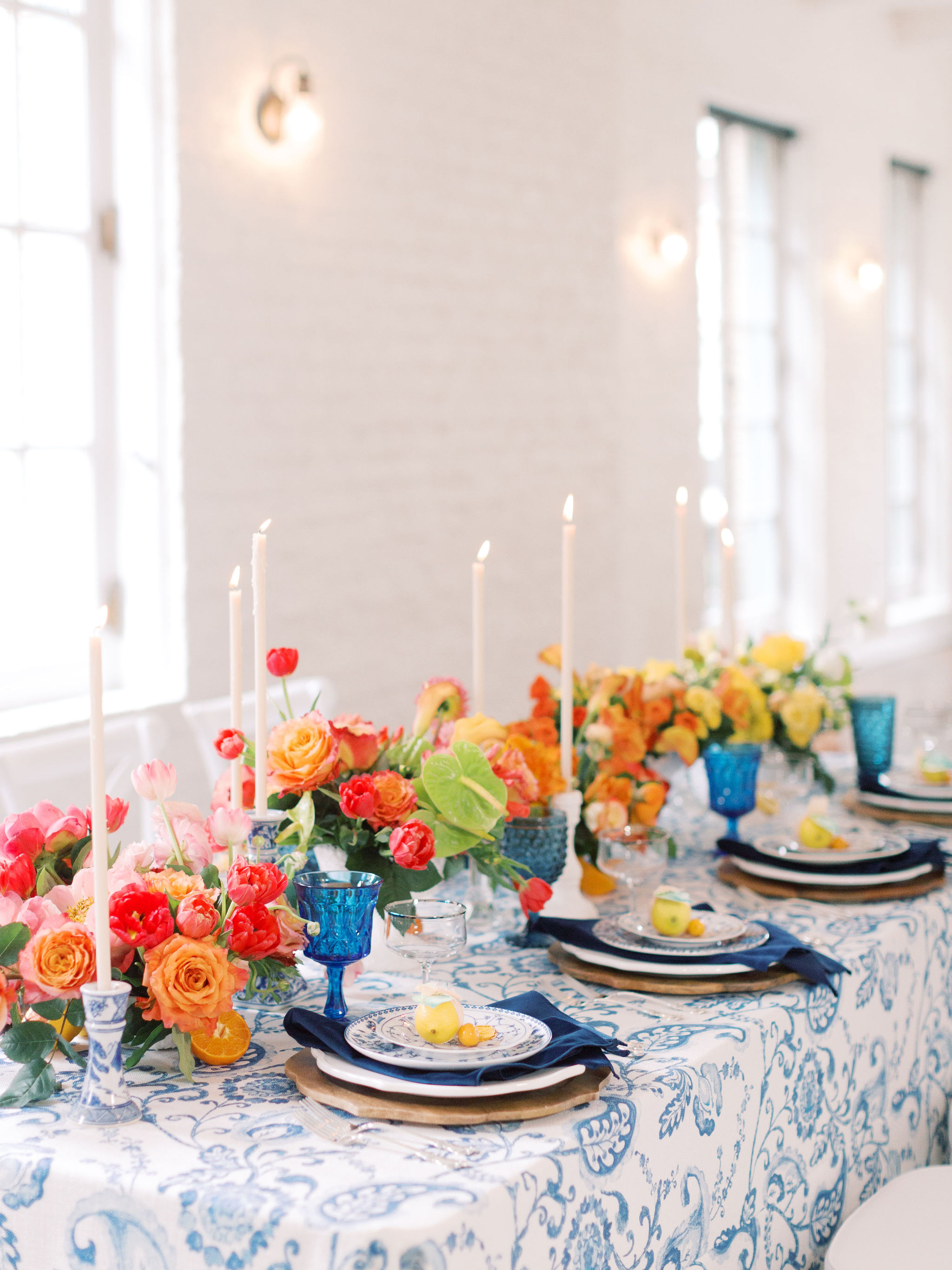 Ombre Table Floral Designs