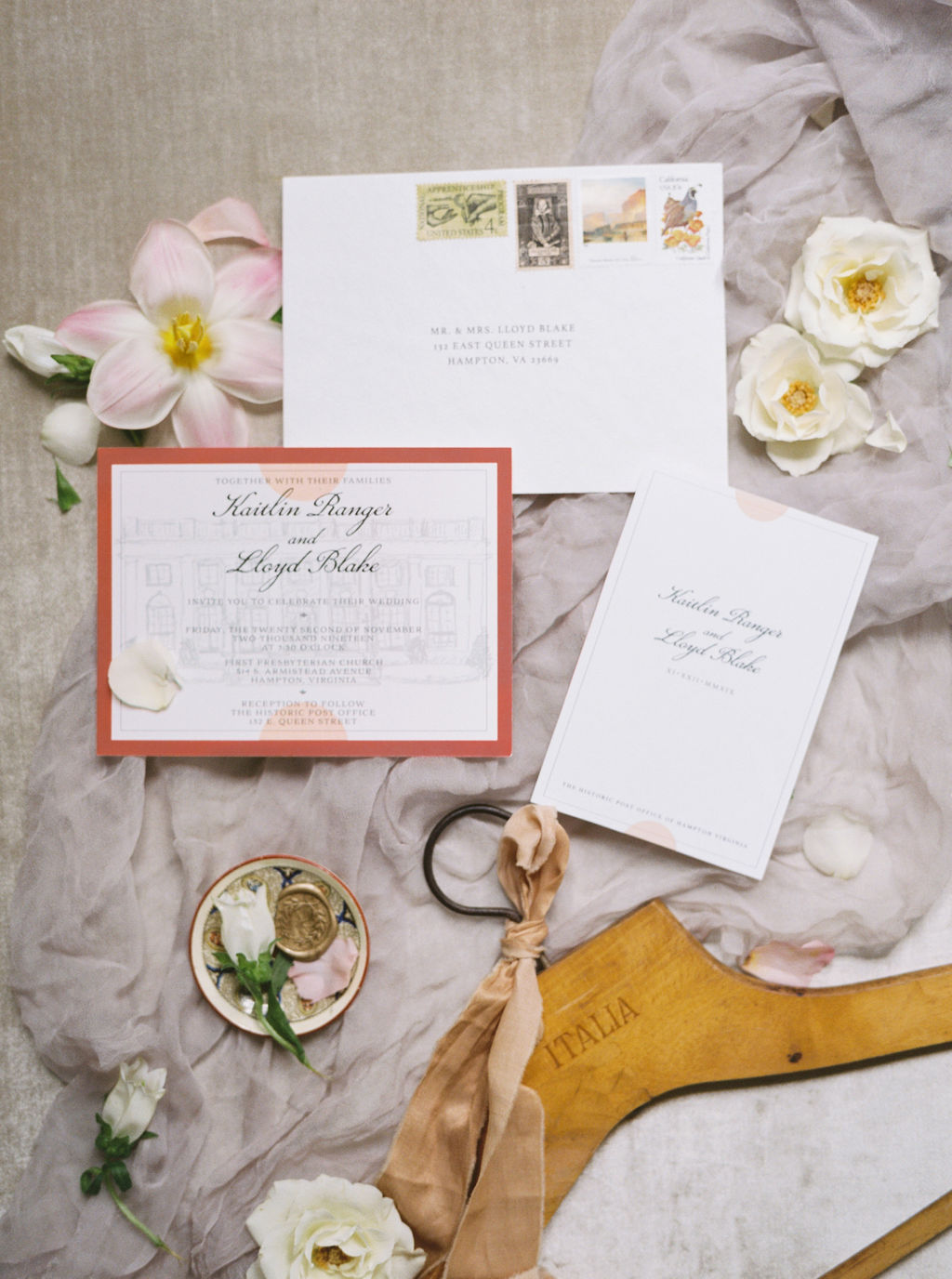 Fine Art Invitation Flat Lay