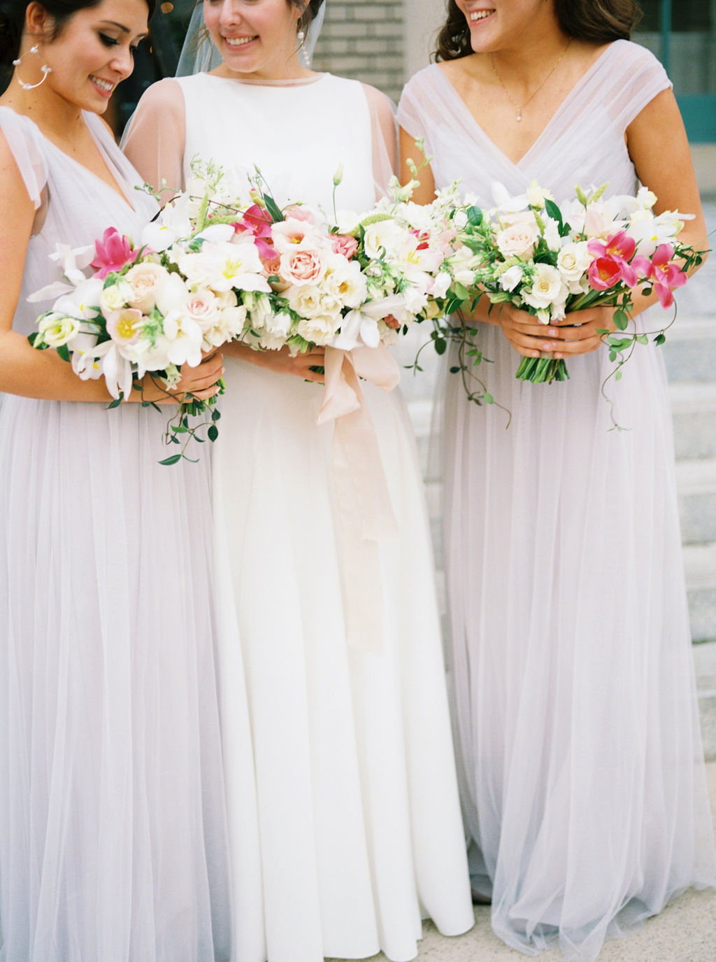 Spring Wedding Florals For Bridesmaids